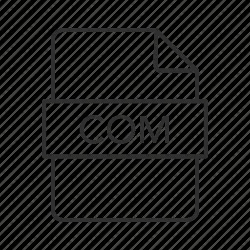 com document, com file, com file icon, com format, com icon, commercial, dos command file icon