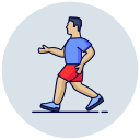 exercise, run, running, weight lose icon