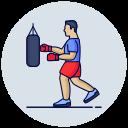 boxing, exercise, fitness, training icon