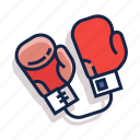 boxing, boxing gloves, fight, glove, gloves, sport, training icon