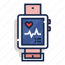 cardiogram, exercise, heart, pulse, smart, watch, workout