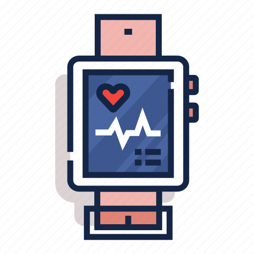 cardiogram, exercise, heart, pulse, smart, watch, workout icon