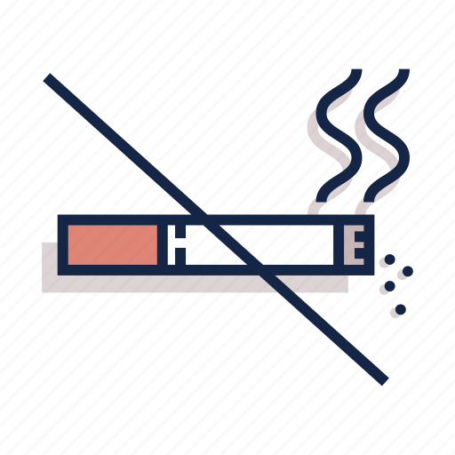 Prohibit, unhealthy, cigarette, no smoke, health, smoke, smoking icon