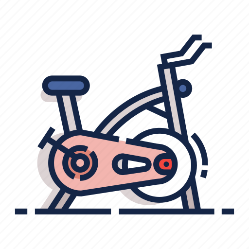Bicycle, stationary bicycle, healthy, gym, fitness, workout, exercise icon - Download