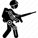 armor, bionic, body, exoskeleton, military, soldier, suit icon