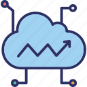 cloud computing, cloud data, cloud hosting, cloud network icon