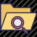saved folder, saved search, search data, search file icon