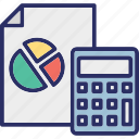 accounting, accounts report, audit report, business analytics icon