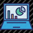 business monitoring, data analytics, online data, online report icon