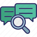 chat analysis, chat evaluation, communication analysis, communication evaluation icon