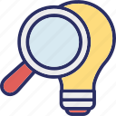 best consulting, find creativity, find idea, idea looking icon