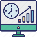 business raise, business success, increase sales, online graph icon