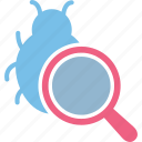 antivirus, bug analysis, bug tracking, find bug icon