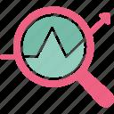 business monitoring, data analysis, data monitoring, search data icon
