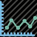 business graph, business plan, graph plotter, line chart icon