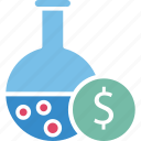 business experiment, business research, business risk, making money icon