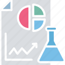 chemical report, lab research, laboratory practical, practical report icon