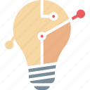 business idea, creative idea, idea creation, idea generation icon