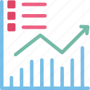 analytics, business evaluation, business report, data chart icon