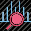 business evaluation, data analysis, data analytics, data monitoring icon