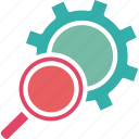 management, search engines, search operations, search settings icon