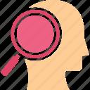 analyst, experimenter, investigator, research person icon