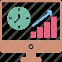 business raise, business success, increase sales, online graph icon