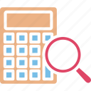 accounting, accounts research, auditing, data analysis icon