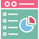 +, business evaluation, graphical analysis, online analytics, statistical analysis icon