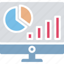 business evaluation, graphical analysis, online analytics, statistical analysis icon