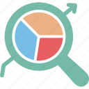 business monitoring, data analysis, data monitoring, search data icon