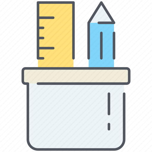 art, artistic, creativity, pencil, ruler, skills, tools icon