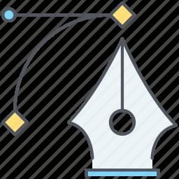 design, line, pen, pen tool, precision, tool icon