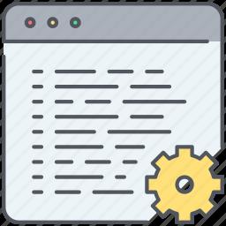 admin, administration, code, development, preferences, programing, web icon