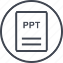 extension, file, page, ppt icon
