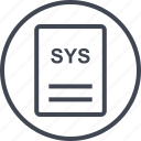 extension, file, page, sys icon