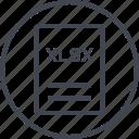 extension, file, page, xlsx icon
