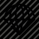 activity, extreme, helmet, parachute, sport icon