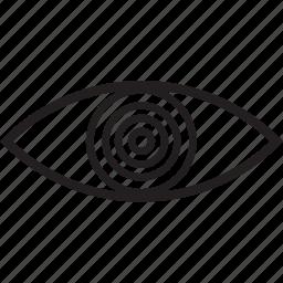 dizzy, eye, hypnotized, vision icon