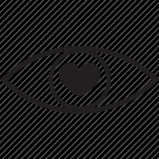 eye, love icon