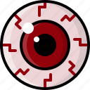bloodshot, dry eyes, eye, health, monster, pink eye, vision icon