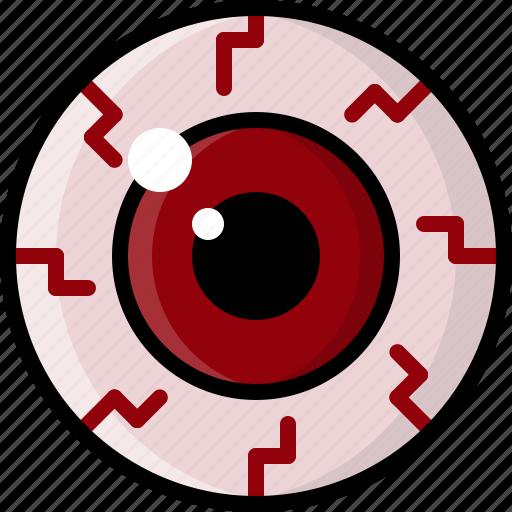 Bloodshot, dry eyes, eye, health, monster, pink eye, vision icon - Download on Iconfinder