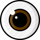 dilated, eye, eyesight, health, optometry, pupil, vision icon