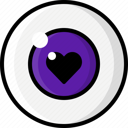 eye, eyeball, eyesight, heart, i love you, love, vision icon