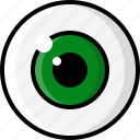 eye, eyeball, eyesight, glasses, optometrist, pupil, vision icon
