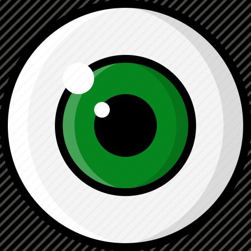 eye, eyeball, eyesight, glasses, optometrist, pupil, vision icon