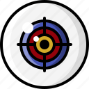 crosshairs, eye, eyeball, eyesight, focus, target, vision icon