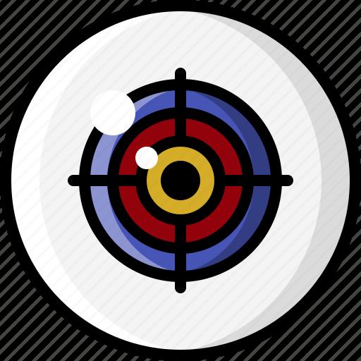 Crosshairs, eye, eyeball, eyesight, focus, target, vision icon - Download on Iconfinder