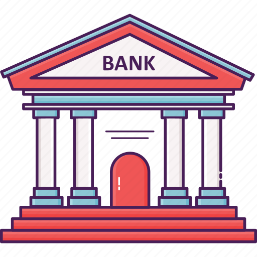 bank, building, city, economy, financial, money icon