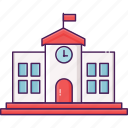 building, city, education, school, study icon